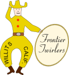 Frontier Twirlers' Badge